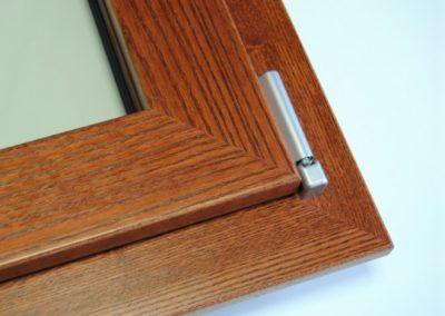 Finestre Serramenti Alluminio-Legno-Dettaglio Squadrata 45 gradi