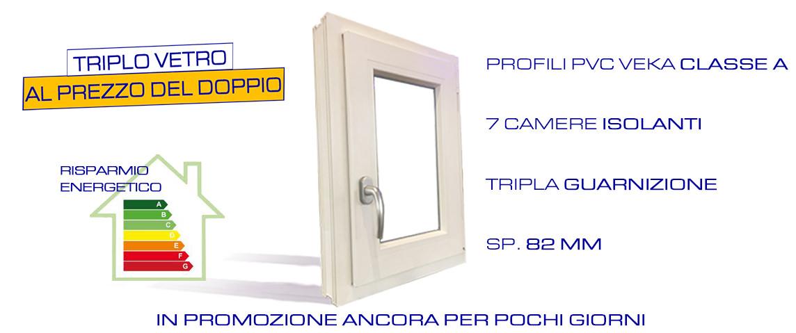 Serramenti e finestre pvc classe a tripla guarnizione - Finestre triplo vetro ...