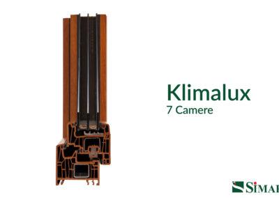 Klimalux Simar sezione con triplo vetro